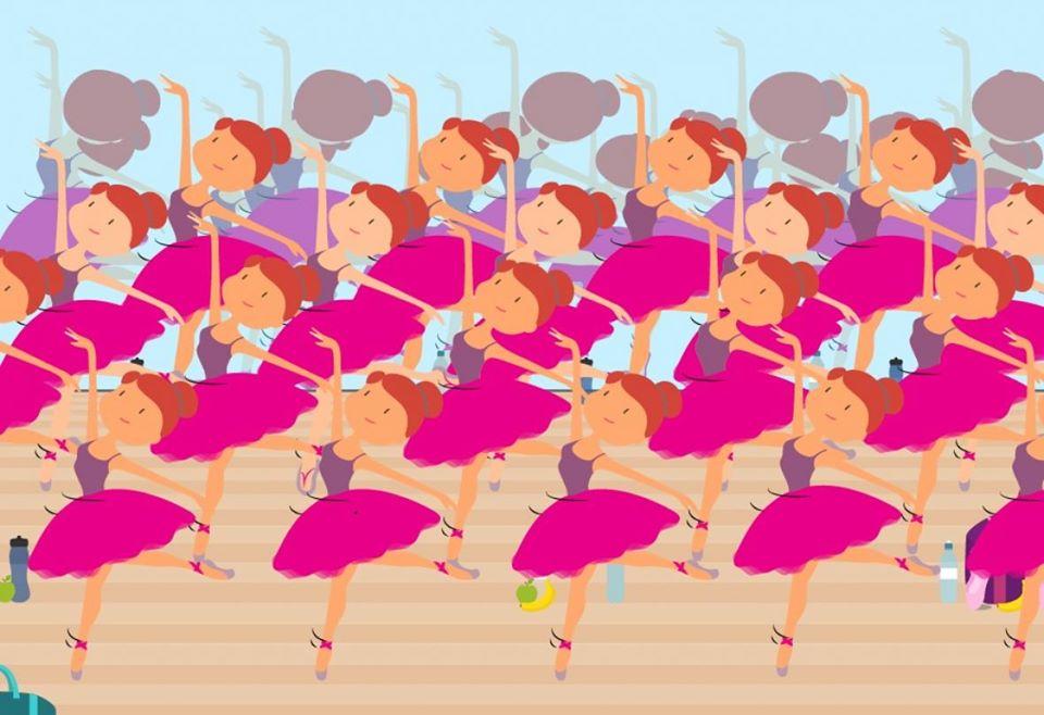 Една балерина се разликува од останатите: Дали можете да откриете во што е разликата?