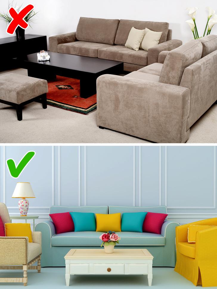 Дизајнерите за ентериер споделуваат 10 правила за уредување на домот што треба да ги прекршите