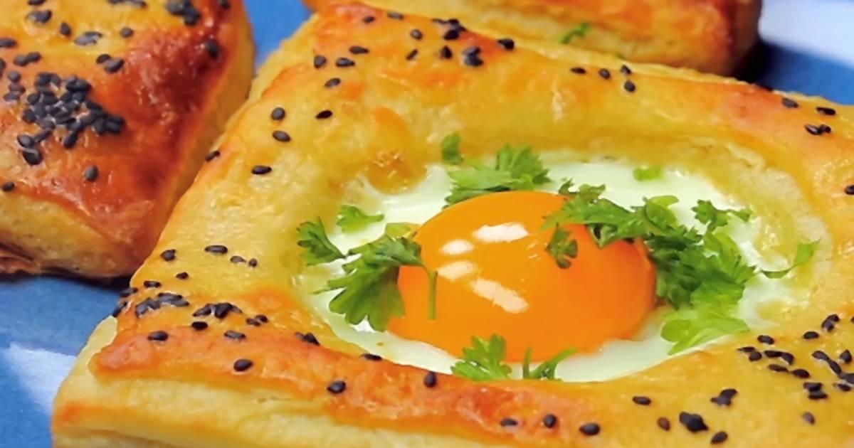 Одличен рецепт за појадок: Јајце во лиснато тесто