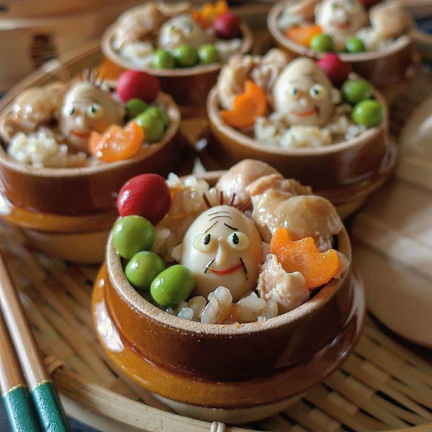 Оваа мајка на три деца од Јапонија има извонредни вештини за правење оброци со пржени јајца