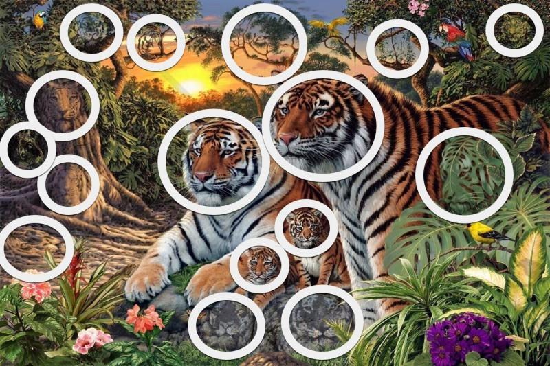 Загатка: Дали можете да ги пронајдете сите тигри на цртежот?