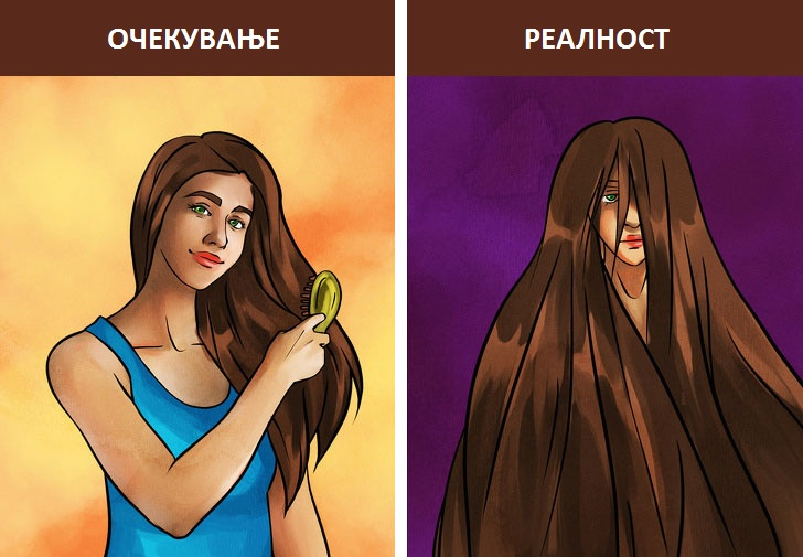 15 илустрации во кои ќе се пронајдат девојките што имаат проблеми со фризурата
