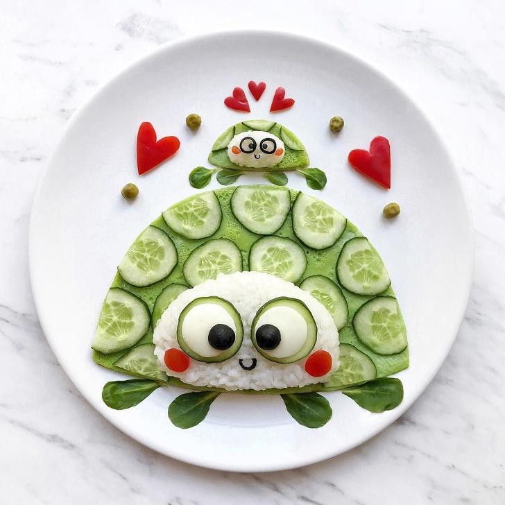 Уметникот открива што се случува кога чинијата е платно, а храната е боја