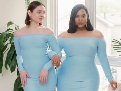 Две пријателки покажуваат како истата облека може да изгледа одлично на секоја форма на женско тело