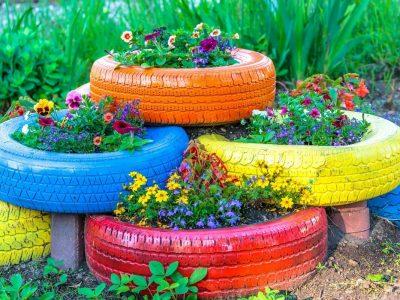 Луѓето ги претвораат старите гуми во бајковити градини кои изгледаат прекрасно