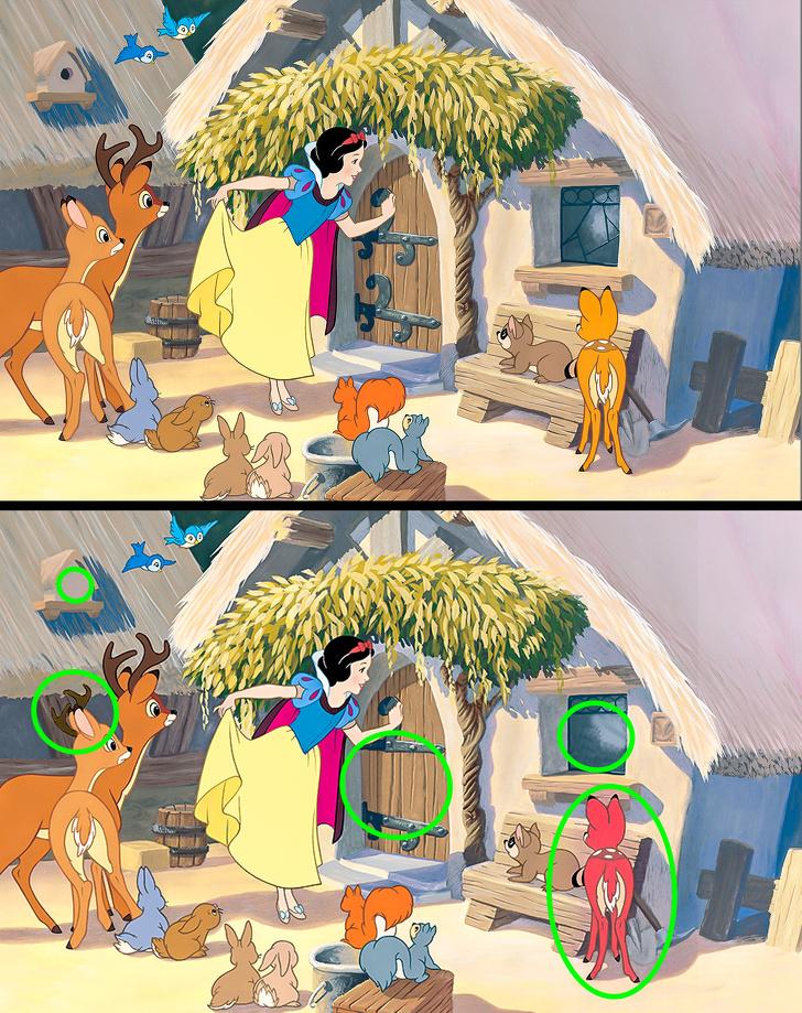 Загатки што ќе ве вратат во детството: Пронајдете ги 5-те разлики во сцените од филмовите на Дизни