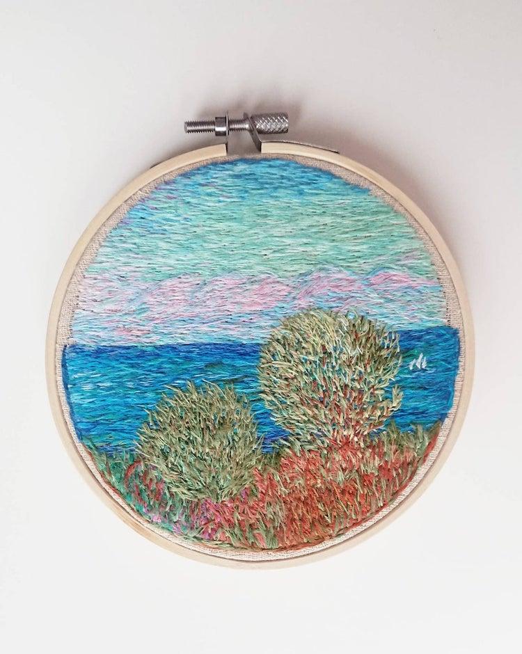 Шарени и везени дизајни инспирирани од импресионистички сликари