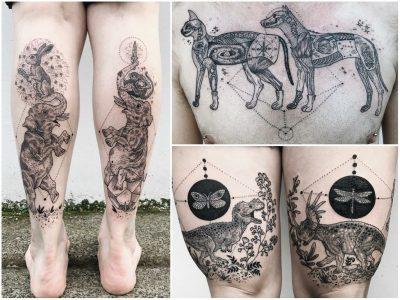 Тетоважи кои ја прикажуваат мистериозната страна на природата