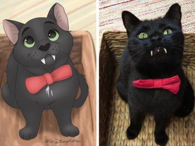 Илустратор ги претвора фотографиите на вашето милениче во магични креации што изгледаат како ликовите на Дизни