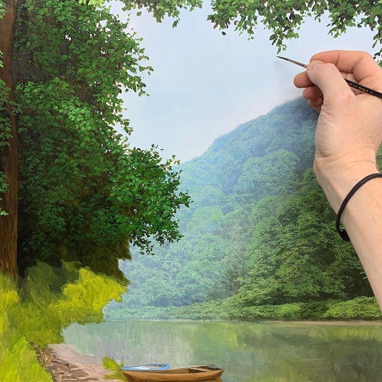 Идилични маслени слики со сцени од природата за кои ќе помислите дека се фотографии