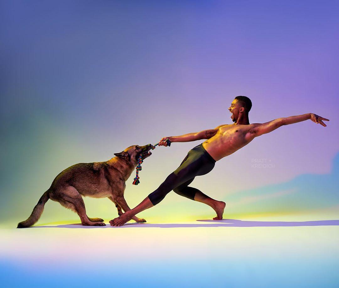 Слатки фотографии од танчери и кучиња