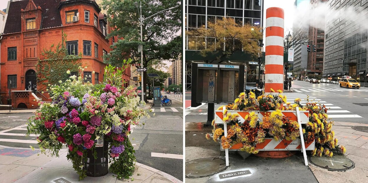 Цветни инсталации ги разубавуваат телефонските говорници и кантите за отпадоци низ Њујорк