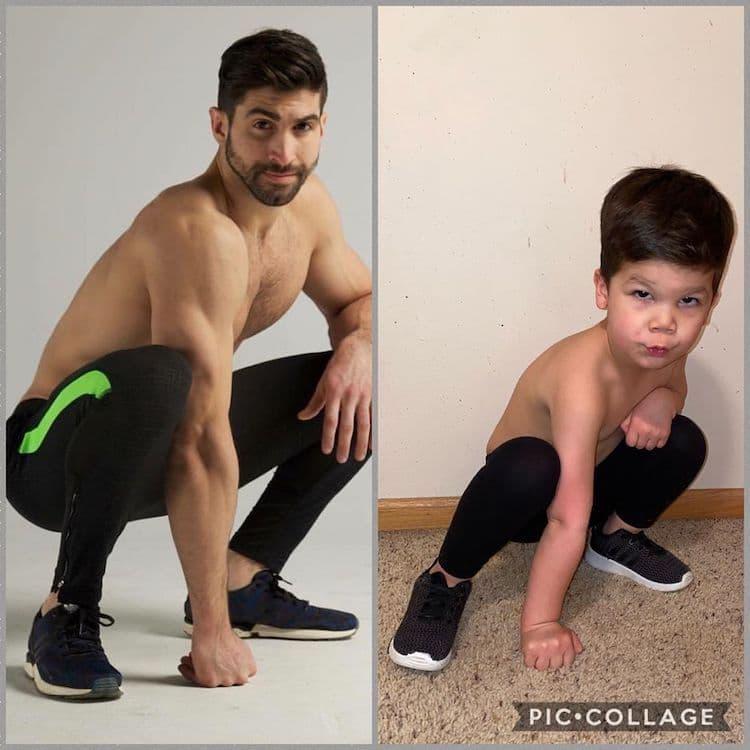 Симпатично дете ги рекреира модните фотографии на својот чичко кој е познат модел и инфлуенсер
