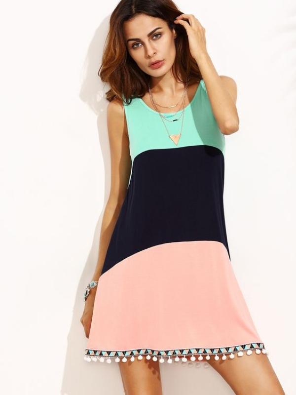 """20 впечатливи """"color block"""" фустани"""