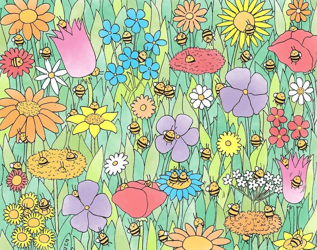 Дали можете да ги најдете сите: Колку пчели има на цртежот?
