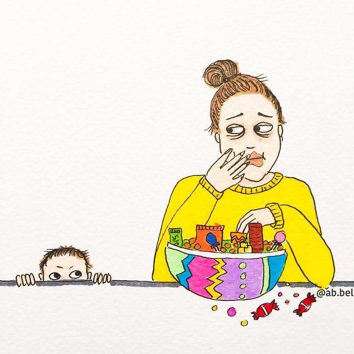 20 стрипови кои совршено доловуваат како изгледа мајчинството