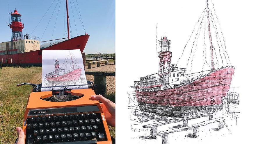 Импресивни уметнички дела создадени на машина за пишување