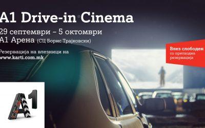 А1 Македонија со уникатен настан за љубителите на филмот: A1 Drive-in кино од 29 септември до 5 октомври