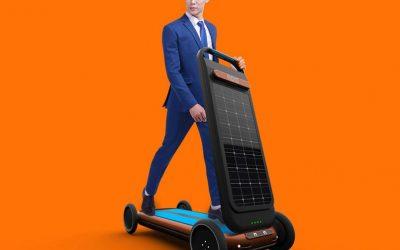 """Новина за која се зборува многу: Електричен скутер кој се полни додека """"трчате"""" на него"""