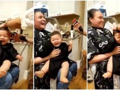 Позитива на денот: Смешно видео од реакцијата на едно бебе додека го шишаат
