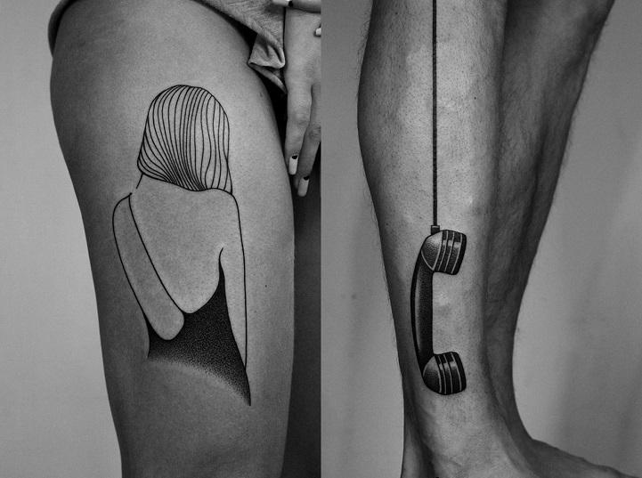 Тату артист создава тетоважи кои се усогласени со телата на неговите клиенти