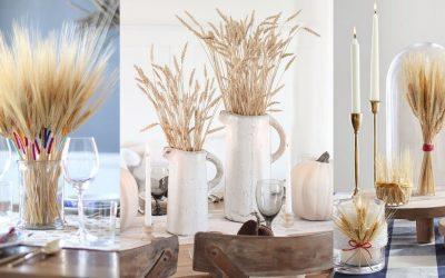 Топло и разиграно: Есенски украси со класови пченица