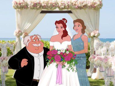 Уметник замислува како би изгледале родителите на принцезите на Дизни ако биле присутни на венчавката