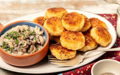 Рецепт за крцкави ќофтиња од компири и сирење