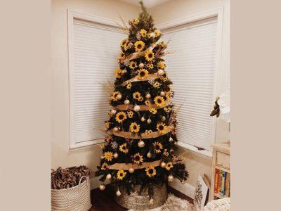 Новогодишни елки инспирирани од сончогледите се новиот празничен тренд