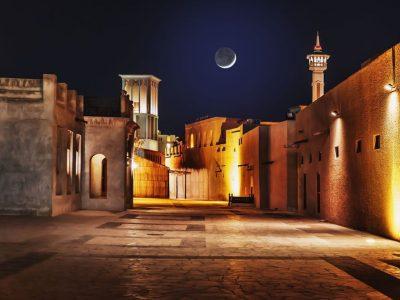 Стар дел од Дубаи кој потсеќа на не толку далечното минато