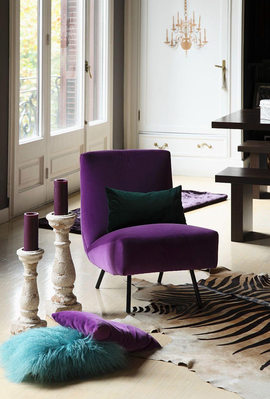 15 примери како да ја вклопите виолетовата боја во вашиот животен простор