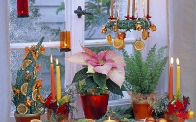 20 идеи за празнично украсување на прозорците