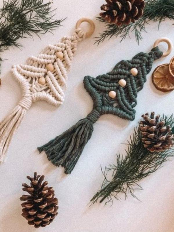 Новогодишни украси во бохо стил