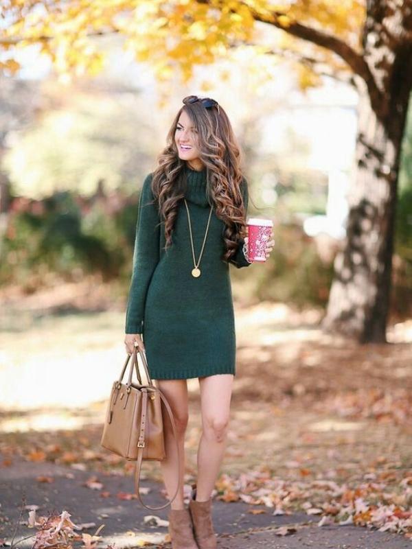 Смарагдно зелени комбинации за преминот од есен во зима