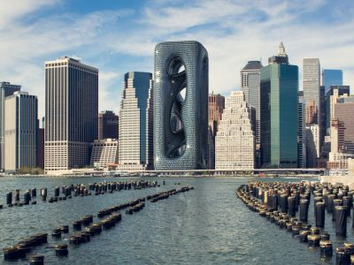 Зграда висока 210 метри: Облакодер со дупка или џиновска скулптура?