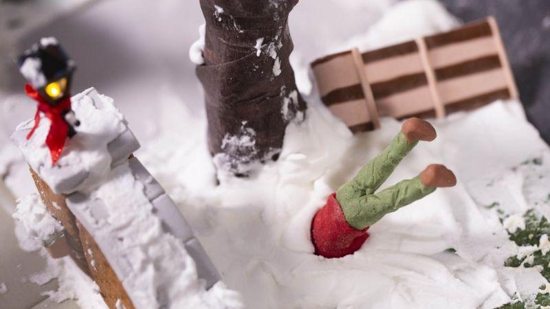 """Сцени од филмот """"Сам дома"""" направени од колачиња кои се топат во устата"""