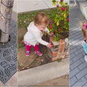 Симпатично видео од девојче кое мисли дека сè наоколу е станица за дезинфекција на рацете