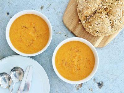 Супа од сладок компир и црвена леќа
