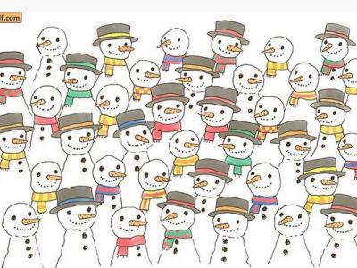 Загатка: Пронајдете го снешкото кој нема пријател!
