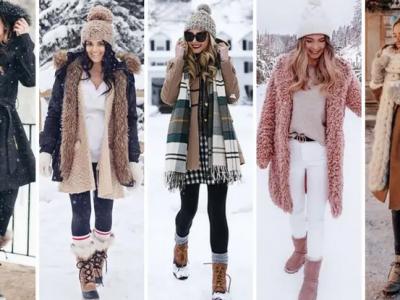 Топ 20 удобни и женствени комбинации за прошетка по снегот
