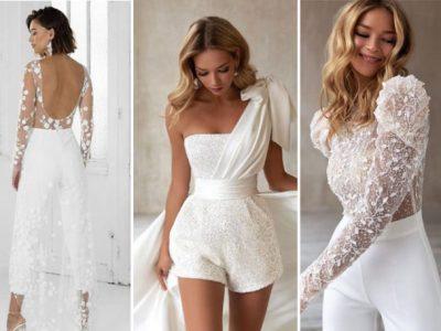 Нов моден тренд: Белите комбинезони како замена за венчаници