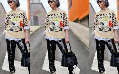 50-годишна инфлуенсерка воодушевува со нејзините модни комбинации