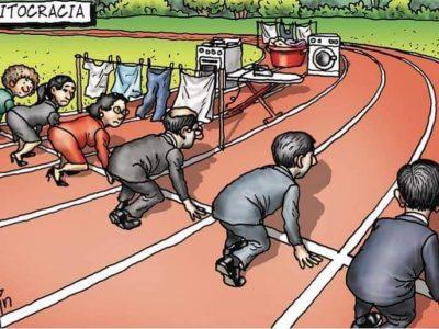 Цртеж кој прикажува со какви предизвици се соочуваат вработените жени и мајки