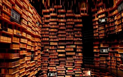 Огромна библиотека која содржи 50.000 книги, но ова место не е само за читателите