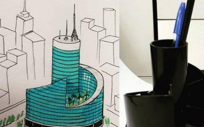 Погледнете ги овие цртежи на згради инспирирани од секојдневни предмети