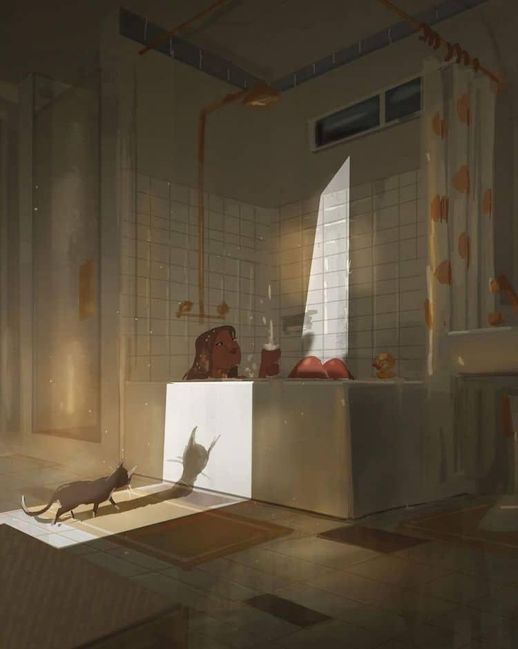 Илустрации кои ја доловуваат убавината на малите моменти во домот
