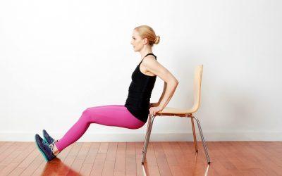 Вежби со стол што треба да ги пробате ако сте почетници
