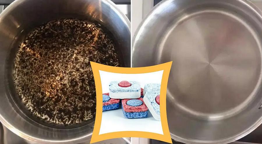 Како да ги исчистите загорените садови без многу триење, со одличен додаток?