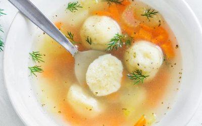 Рецепт за супа со кнедли од сирење