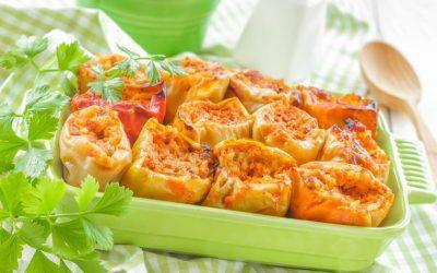Рецепт за полнети пиперки со спанаќ и леблебија